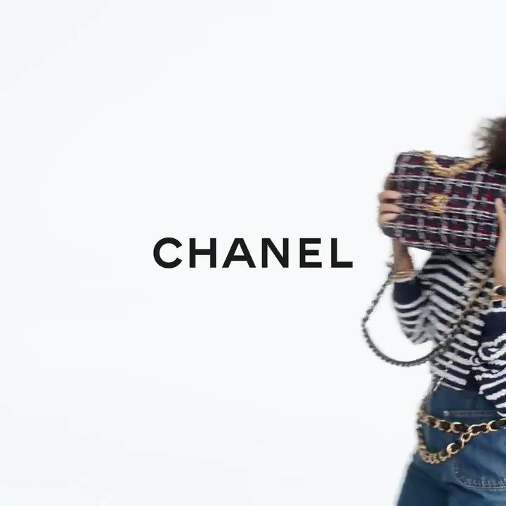 Next up is #TaylorRussell for @CHANEL #handbagchanel19 from ROMAN and SOFIA COPPOLA!