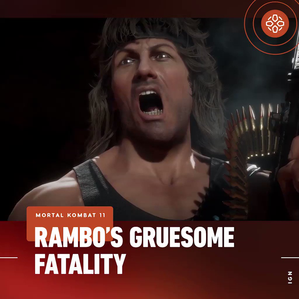 'It'll be right between the eyes.' Check out Rambo's killer moves in Mortal Kombat 11.