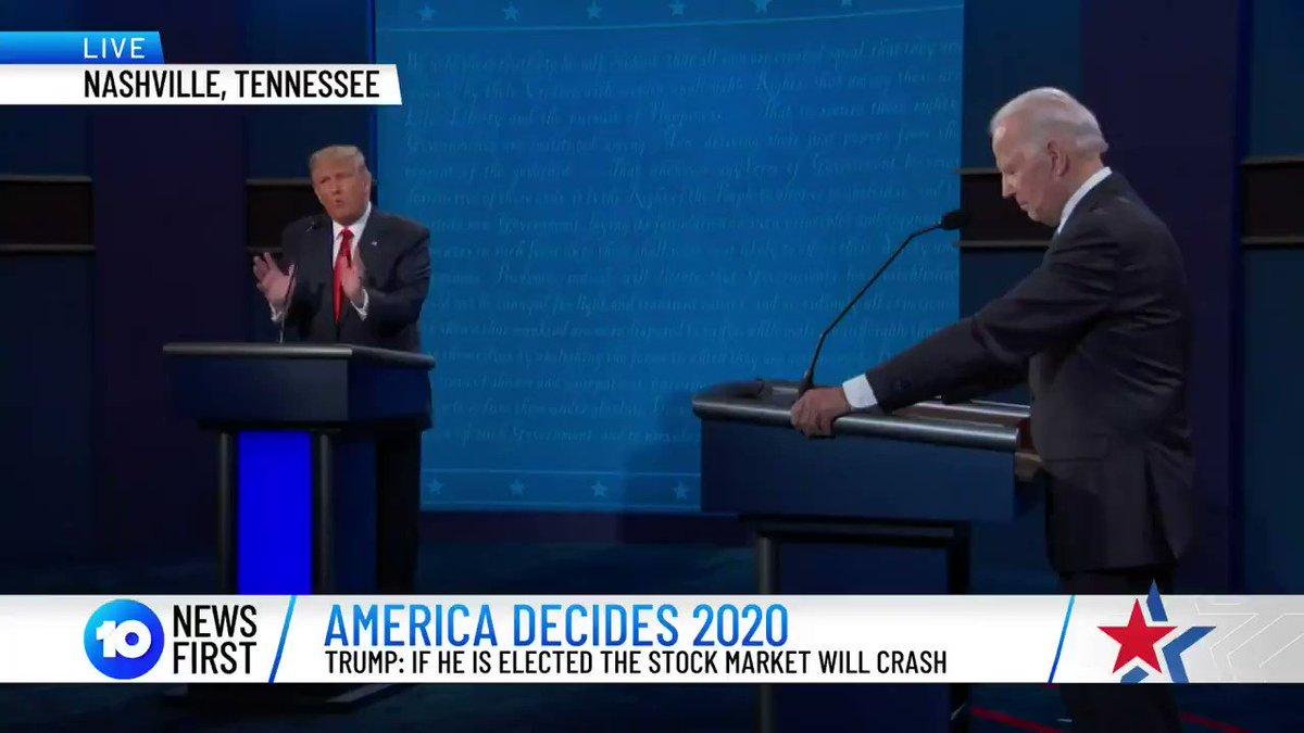 Trump to Biden: 'I ran because of you...because you did a poor job.'