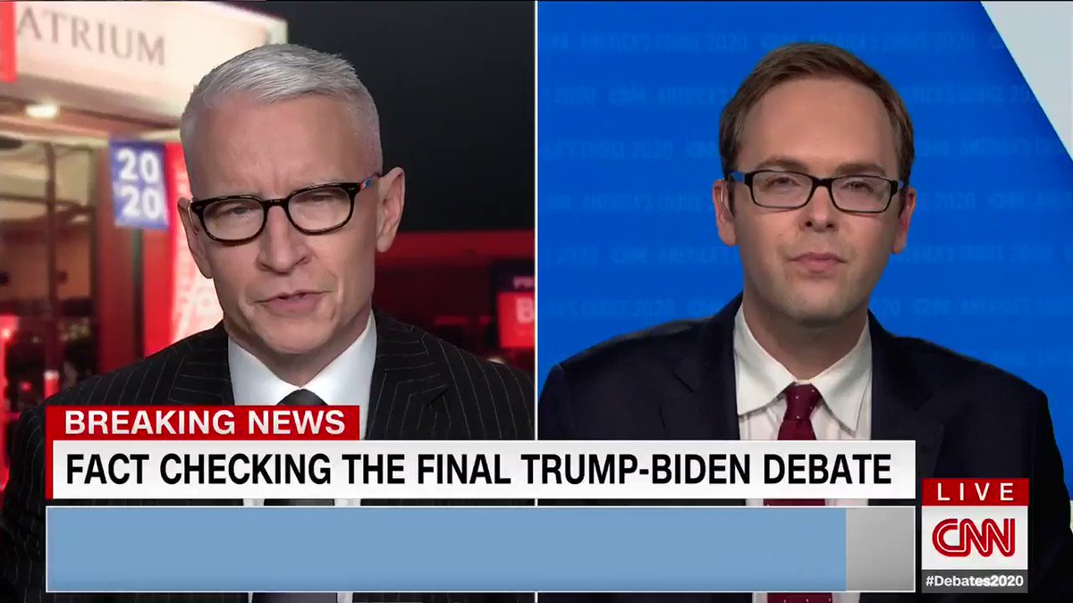 """""""Trump is correct...its just false for Biden to say that he never said he opposed fracking"""" Wow - CNN actually fact checking Biden!"""