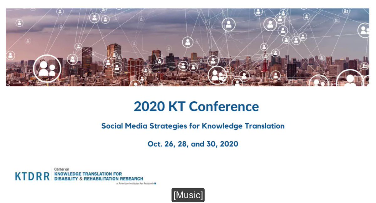 For all of you who want to know more about how to use #socialmedia for #knowledgetranslation: check out this free conference happening next week! Topics include using social media for recruitment of patient partners, stakeholder engagement and more. Registration ⬇️