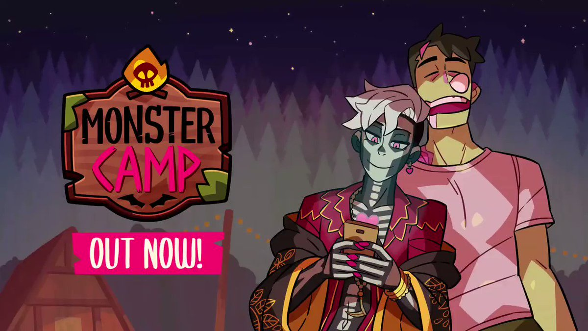 MONSTER CAMP is OUT NOW! Its time to smooch some monsters 👻👻👻 store.steampowered.com/app/1140270/Mo… GET READY FOR SOME WEIRD WONDERFUL WACKINESS! Join the conversation in our Discord server: discord.gg/monsterprom