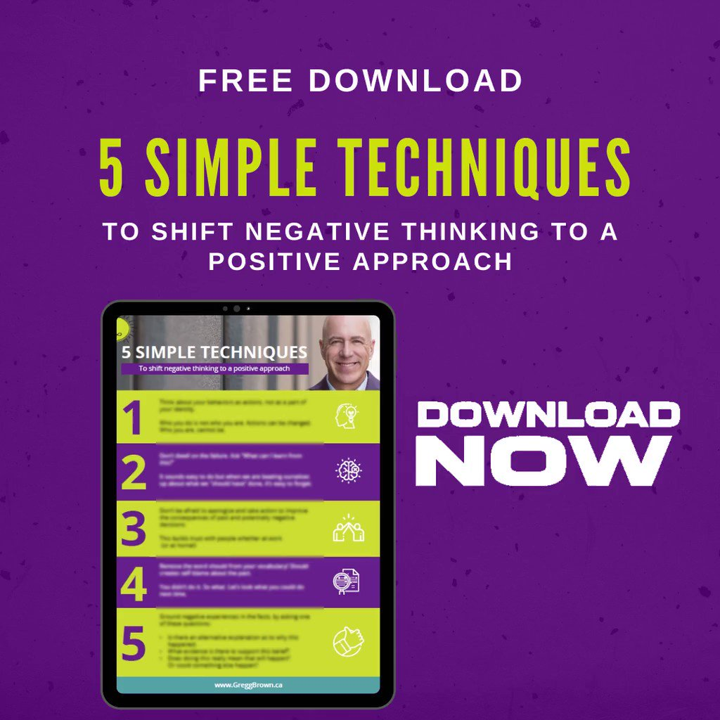 It's amazing what you can achieve with these 5 simple techniques! Get ready to move away from negative thinking...   #5techniques #negativetopositive #positivethinking #getmotivated #change #changemanagement #leadership #success #freedownload #fridayfreebie