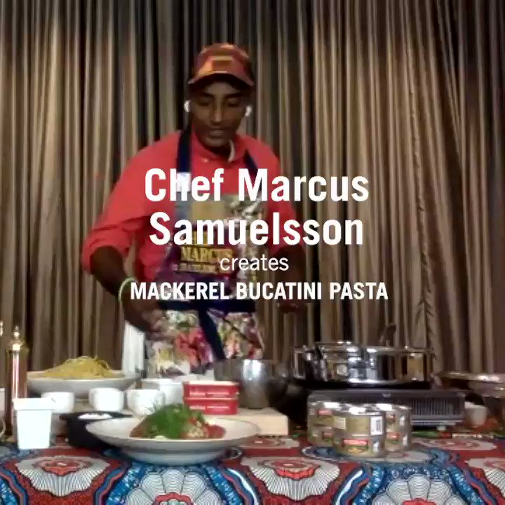 King Oscar is seafood fit for a king – and Chef @MarcusCooks! Chef Marcus grew up in Scandinavia and loves our mackerel, so he's cooking up a Bucatini with Royal Mackerel Fillets, Swiss Chard, Preserved Lemon & Chili in our Facebook Watch Party, Monday 10/26 6pm ET. Be there! https://t.co/2qVa86ZXb5