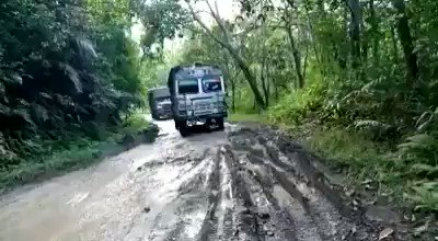 Try the -#Sonari (Assam) - #Tizit (Nagaland) road.  It is like waves of #Tsunamis. To top it all, the #slush makes you feel like going #Skiing_in_Mud.