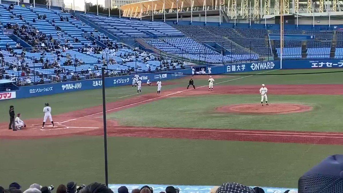 今年のドラフトの超目玉・早稲田大学 #早川隆久 投手の圧巻完封投球を現地で見てきました。何球団競合になるか、どこに入団するかめちゃめちゃ楽しみ。