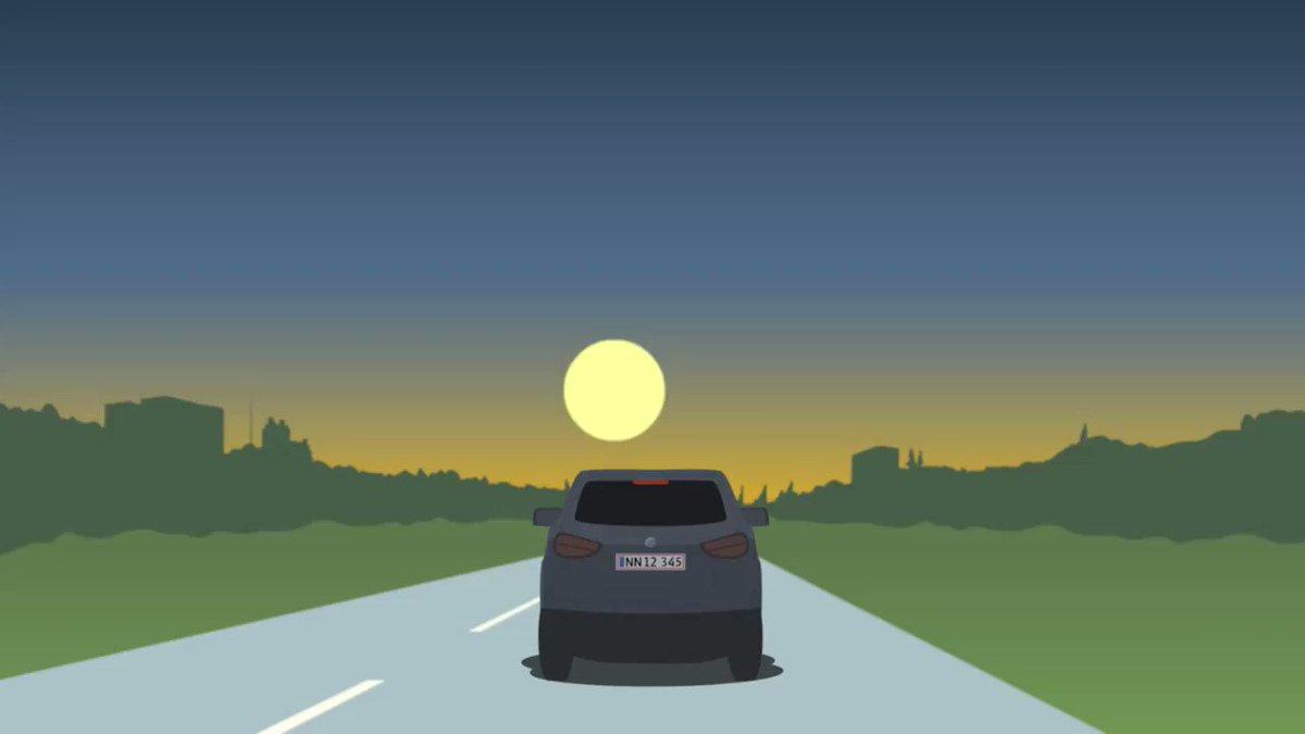 Skal du ud og køre i aften – måske hjem fra et familiebesøg? 🌒🚗  Uanset dit ærinde, så husk at tænde nærlyset – så er du sikker på, at der er lys i baglygterne. #sikkertrafik #politidk https://t.co/HQ53XXvIDW