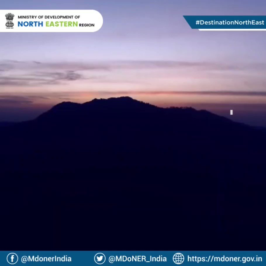 Thank you @MDoNER_India for sharing such a mesmerizing view from Lawngtlai in Mizoram! #DestinationNorthEast @Mizoram_Tourism