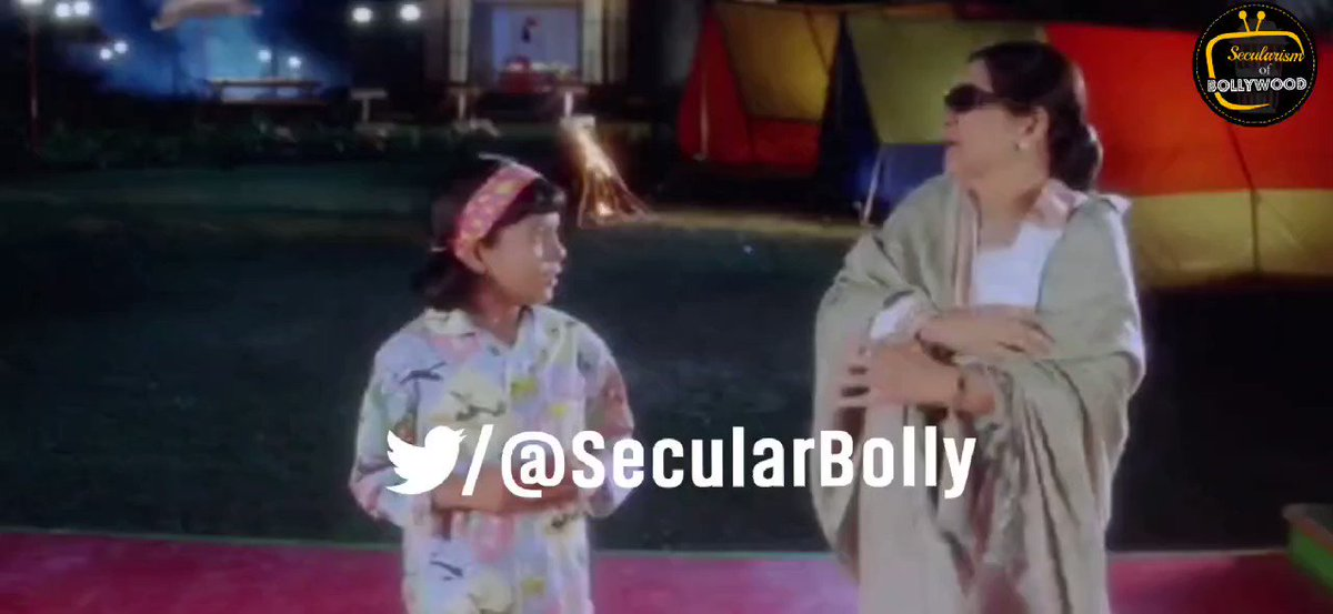 Kuch Kuch Hota Hai (1998) A Hindu family Kid, Anjali offers 'Namaz' and her prayer gets immediately heard. Now see her reaction when her grand mother suggest 'Pooja path' as a solution. Directed and written by Karan Johar