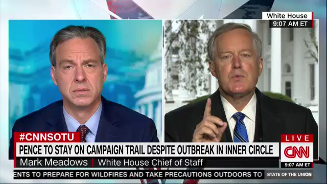 Mark Meadows has tested positive for the #TrumpVirus - There is no plan, no regard for science, only votes... they just want your vote and then you can die. You make no difference to them  https://t.co/HXpzHN0XCC
