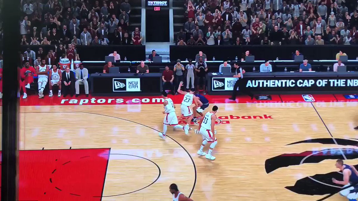 The world famous stop mid wide open layup and take a jumpshot. (Via u/tratretritrotru)