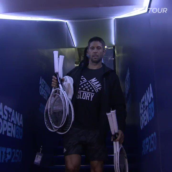 Waving to the second round like 👋  🇪🇸 @FerVerdasco battles past Duckworth 6-4, 7-6(5) at the @AstanaOpen. https://t.co/o6E1dqumXx