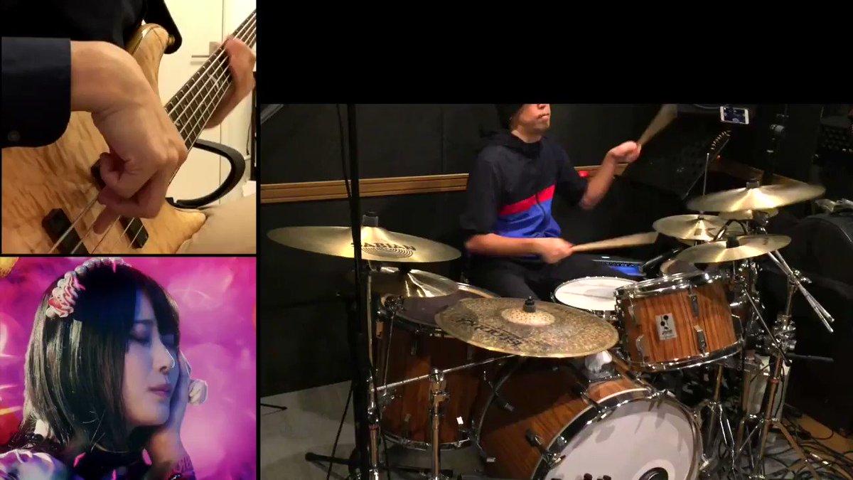 ORESAMA「Gimmme!」(魔王城でおやすみED)ドラム叩いてみた&ベース弾いてみた【コラボ】/ ORESAMA Gimmme! Drums & Bass cover collaboration  #sm37704161 #ニコニコ動画