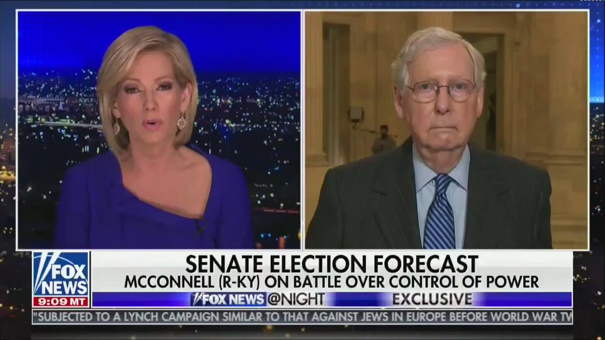 "Here's Mitch McConnell on Fox News saying he thinks Amy Coney Barrett will be a ""political asset"" for Republican candidates"