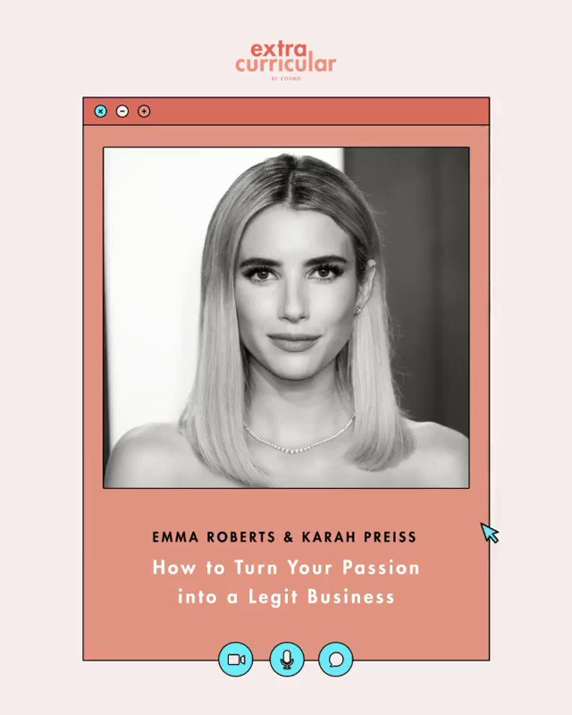 We just added a ✨new✨ #ExtraCurricular class! Your professors are—drumroll, plz—the @RobertsEmma & her BFF @Karahpreiss. They'll be teaching you all about how to get paid for doing what you love. Sign up (classes are free, remember?!) for their class: