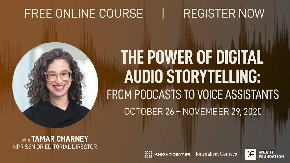 Image for the Tweet beginning: Join instructor @TamarCharney of @NPR