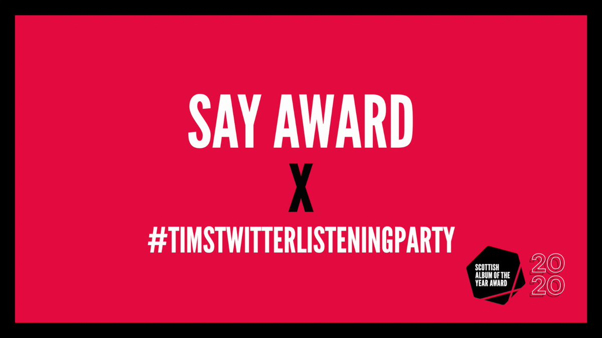 💥 TONIGHT 💥 Join #SAYaward + @LlSTENlNG_PARTY + @Tim_Burgess for listening party 3/3. Press play on the albums and tweet along from 6PM 💯 🏴 👉 6PM @novascotiatruth 👉 7PM @THENINTHWAVE_ 👉 10PM @cloth_band #TimsTwitterListeningParty