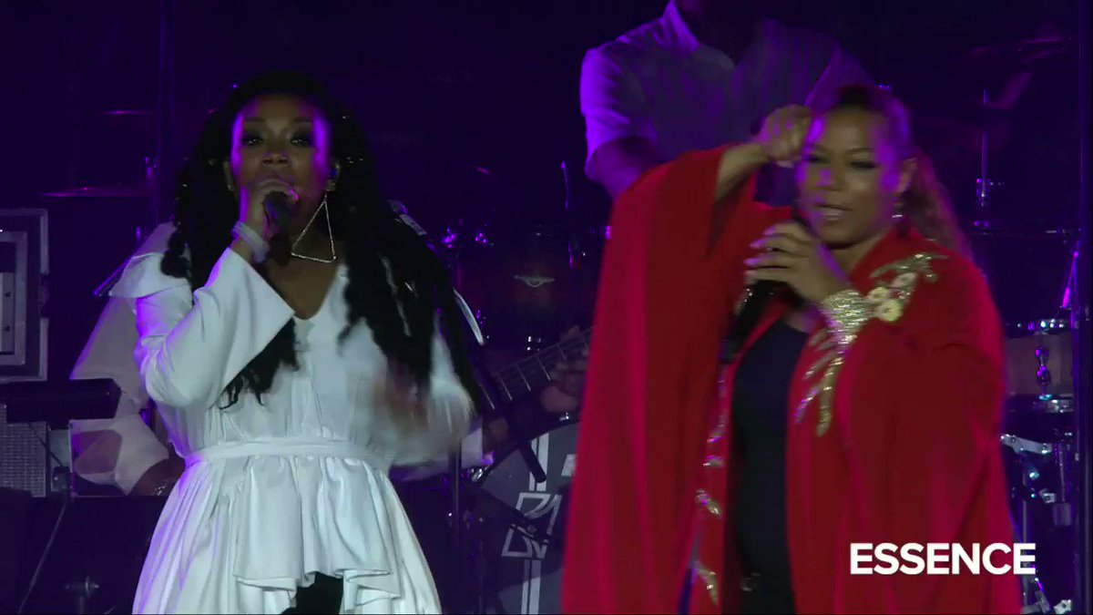 EXCLUSIVE: Watch @essencefest 2018 when @IAMQUEENLATIFAH @4everBrandy @mclyte and Yo-Yo ate up the stage and left no crumbs performing the I Wanna Be Down remix! #ESSENCE
