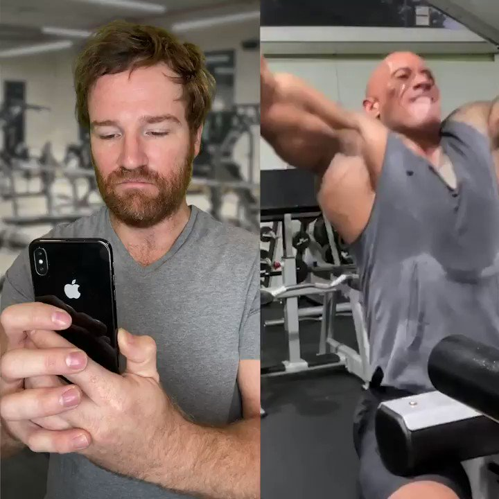 "Weekly tweet until @TheRock gives his ""workout videographer"" the respect he deserves..."