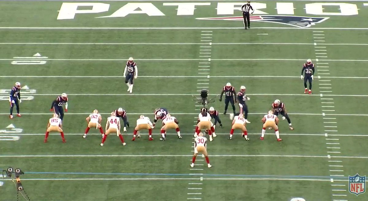 Look at Juszczyk insert on the play side linebacker from a bunch formation on the backside. Ridiculous.