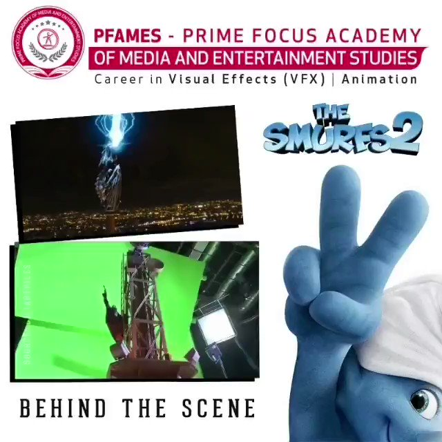 Image for the Tweet beginning: The Smurfs 2 | Behind