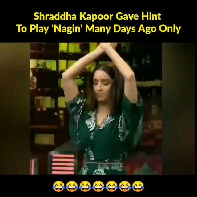 @Shraddhakapoor gave hint to play 'Nagin' many days ago only 😂😂🙆  #ShraddhaAsNagin   #Shraddhakapoor #Shraddhagems #NikhilDwivedi #VishalFuria #Hereforshraddha