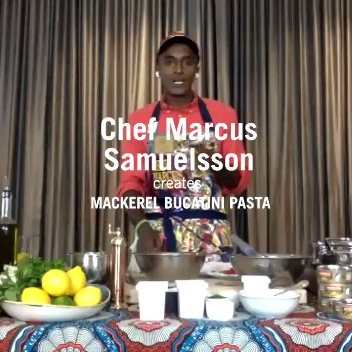 Miss our virtual cooking demo? Chef Marcus Samuelsson @MarcusCooks creates a special Bucatini with King Oscar Mackerel Fillets for a Mediterranean-style pasta dinner done royally. Head over to https://t.co/dCYa8tVerR to see the full demo and get the recipe! #kingoscarseafood https://t.co/bKrpp7f4rl