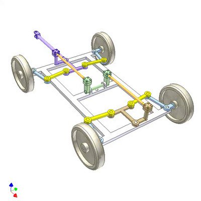Mechanism for Steering a -Wheel Trailer With Small Turning Radius