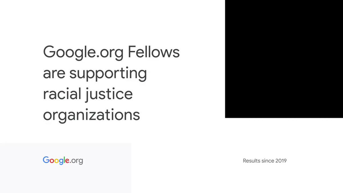 With 29 #GoogleorgFellowship participants giving 27K pro bono hours since 2019, we're continuing to support organizations fighting for racial justice. Learn more:  #ProBonoWeek
