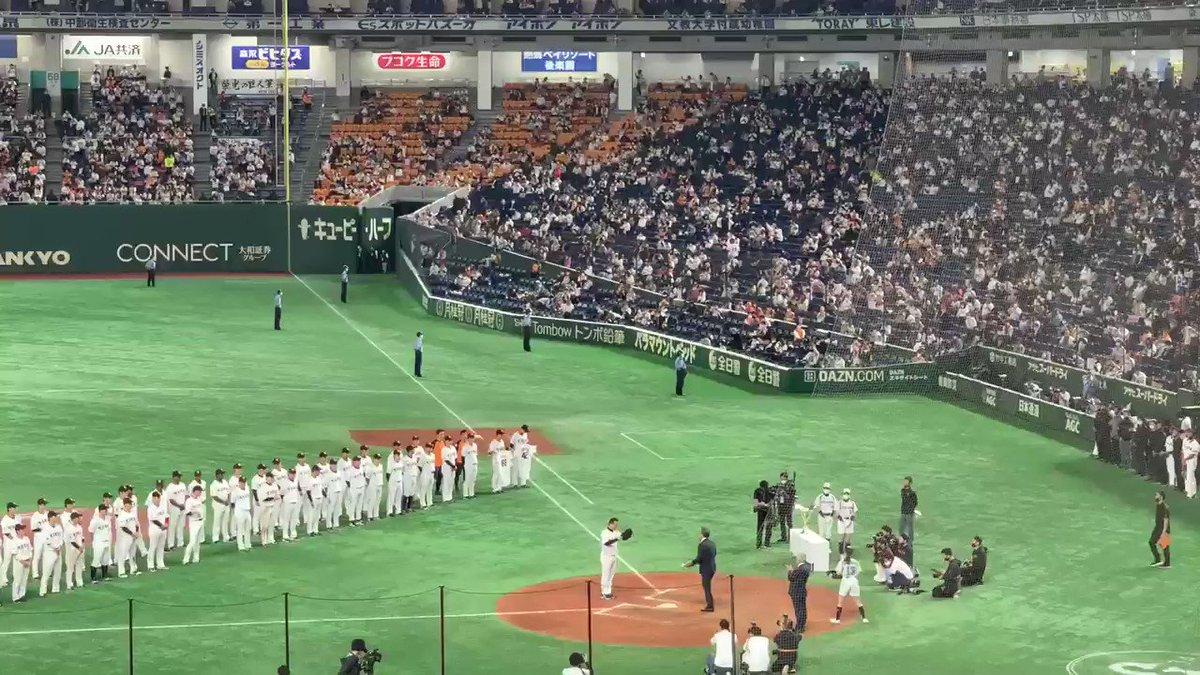 優勝セレモニー🎉原監督から松原選手へ...