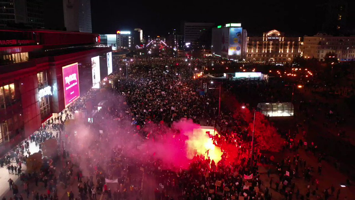 Image for the Tweet beginning: The protest against a total