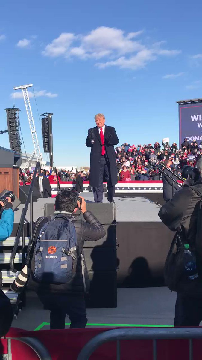 Lots of Proud Americans in Green Bay today! This race is about a Trump boom vs. a Biden lockdown. Vote for freedom!  #MAGA #Trump2020