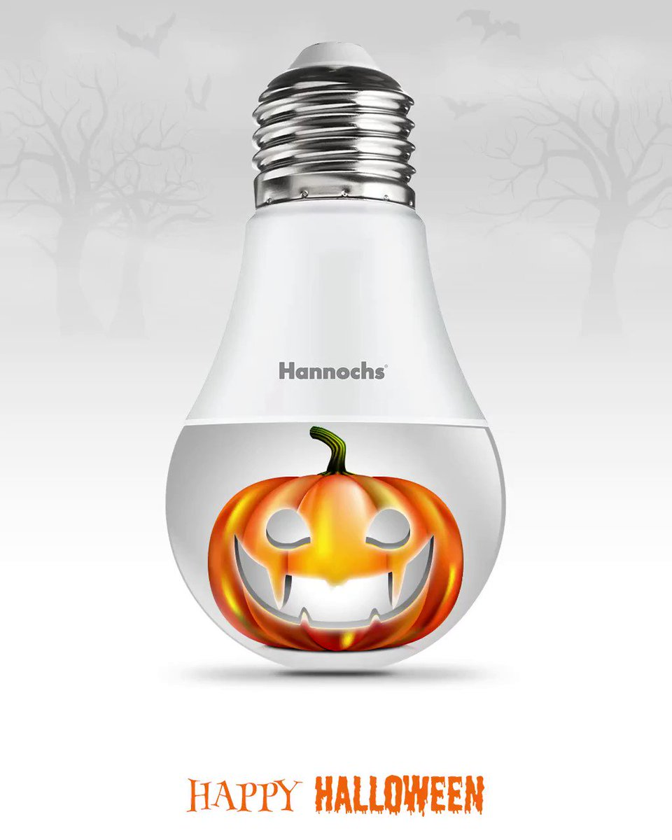 Nikmati serunya Halloween dengan kendali 16 juta warna cahaya lampu Hannochs Futura Smart LED wifi melalui aplikasi Hannochs Smart Home.  . Happy Halloween, sobat Hannochs !   Hannochs Nyalakan DuniaMu~~ #HappyHalloween #MalamHalloween #HannochsFutura #Hannochs #HannochsSmartLED