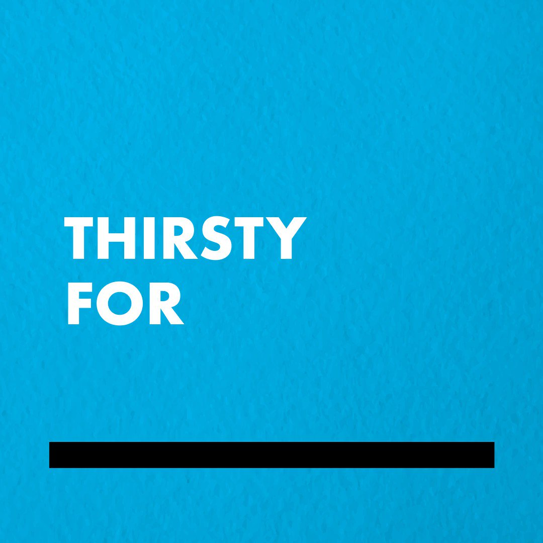 We're thirsty for lots of things!  Above all, we're thirsty for positive change - for you and our environment! It's why we do what we do 😉   What are you thirsty for? #thirstyforchange