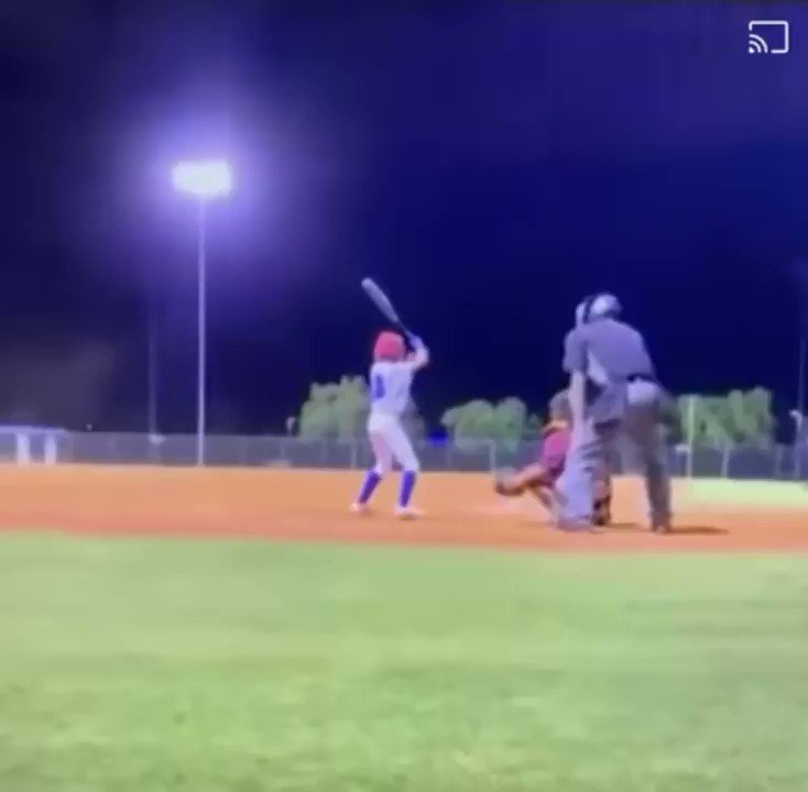 This kid hit a pitch AND a foul-ball from another field at exactly the same time.   Incredible...