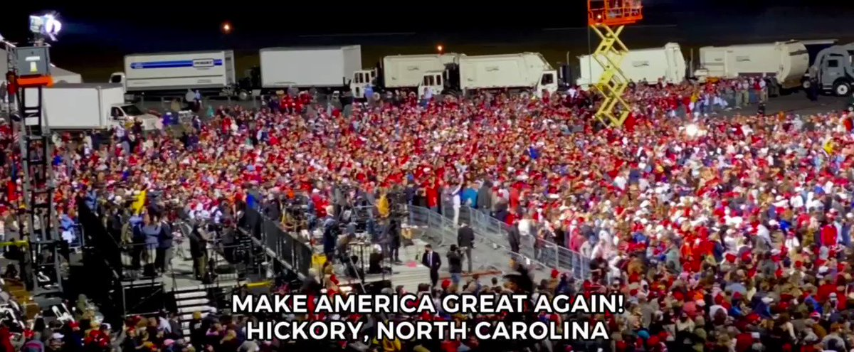 Unbelievable evening in Hickory, North Carolina! Get out and VOTE, let's WIN, WIN, WIN! Next stop, GEORGIA!   #Election2020 #MAGA🇺🇸🦅  🌐https://t.co/zqgeZML9Hf https://t.co/xWIe5V2Wcc