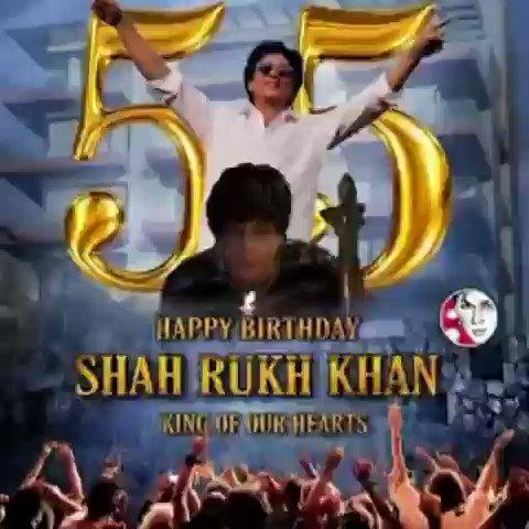 Replying to @Sjjdlihndio1: RT @cine_now: #KingKhan @iamsrk celebrates his 55th birthday today. Join @cine_now in wishing the #Badshahofbollywood the same!  #HappyBirthdaySRK #HBDShahrukhKhan #HBDSRK  @SRKUniverse @drshahrukh @THESRKFANSCLUB @WeSupport_SRK