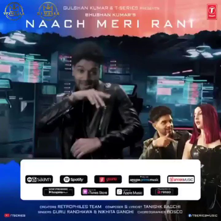 Kickstarting our week with the much awaited song of this season, #NaachMeriRani  ~   💃🏻 Had a blast working on this song as their VFX and DI partners 💯 @pauly_vfxwaala @vfxwaala @GuruOfficial #NoraFatehi @TSeries @RETROPHILES1 #thevfxpeople #thedipeople