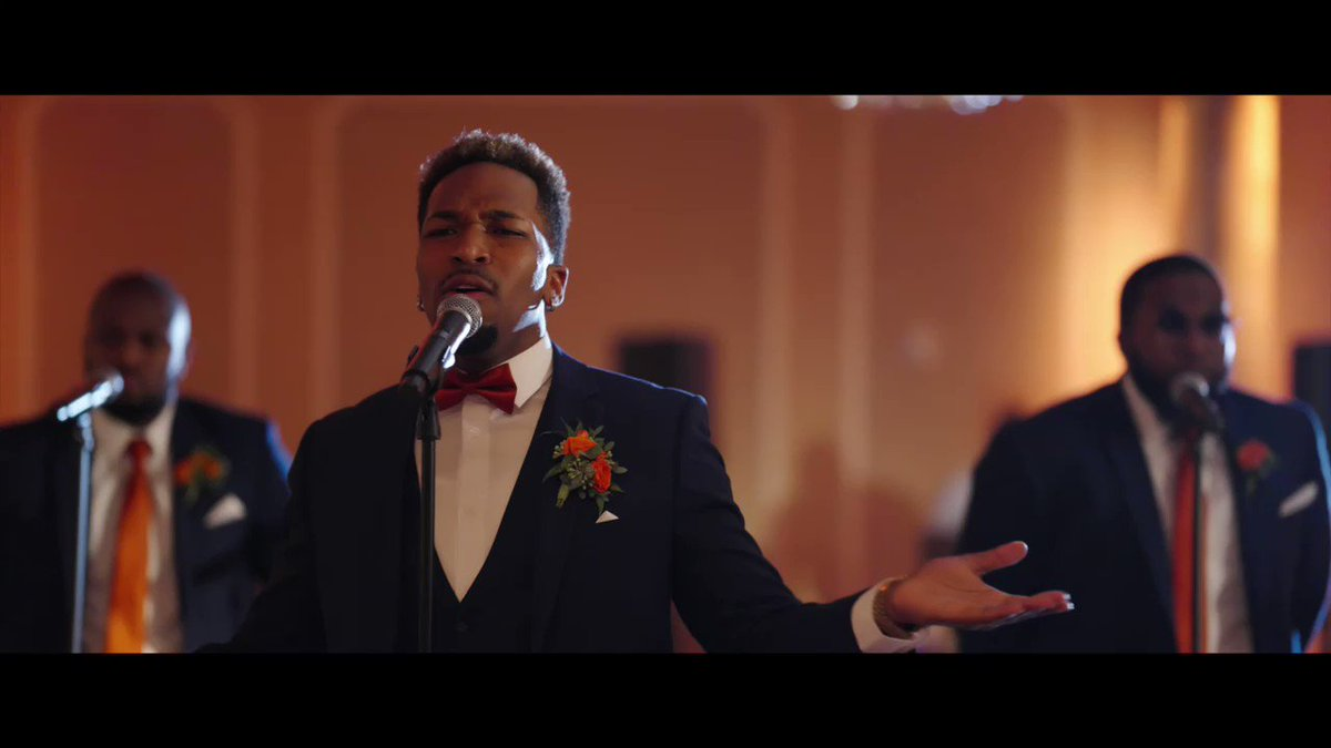 """Me and my groomsmen singing New Edition's """"Can You Stand The Rain"""" at my wedding ⚡️"""