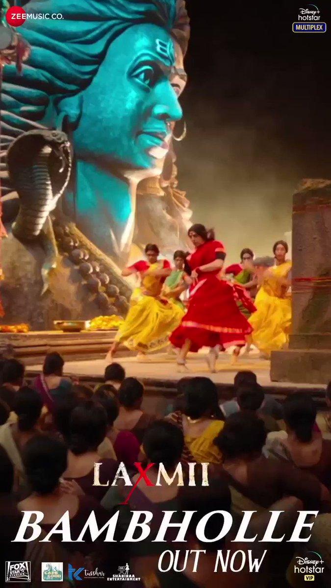 Witness the vivacious avatar of #Laxmii with the song #BamBholle, song out now!   #FoxStarStudios #DisneyPlusHotstarMultiplex #YehDiwaliLaxmiiWali  @akshaykumar @advani_kiara @Shabinaa_Ent @tusshkapoor @foxstarhindi @DisneyplusHSVIP #CapeOfGoodFilms