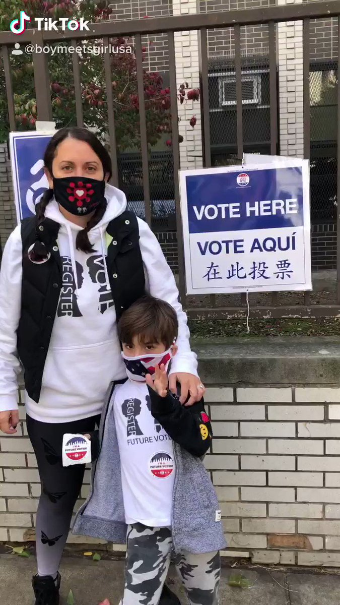 Our Founder & Creative Director @StacyIgel says #GoToThePolls #VoteWithUs today with her son, Dylan.   #VOTE #Election2020 🗳    #BOYMEETSGIRL #FOF2020 #FASHIONOURFUTURE2020 #WomensMarch #VotoLatino   @fof__2020