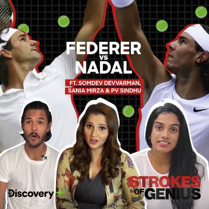 I am team @rogerfederer as I like the way he makes it look so effortless and yet so classy. I have chosen my side, whose side are you on? Catch the finesse of @rogerfederer against the resilience of @RafaelNadal in #StrokesOfGenius on @DiscoveryPlusIn -