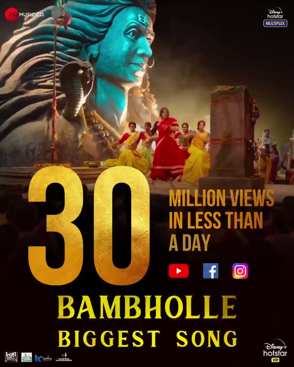 #Laxmii is slaying her way to our hearts! 🔥🤩 #BamBholle sets the stage on fire as it crosses 30 million views in less than a day!! Watch now  #FoxStarStudios #DisneyPlusHotstarMultiplex #YehDiwaliLaxmiiWali @akshaykumar @advani_kiara @Shabinaa_Ent