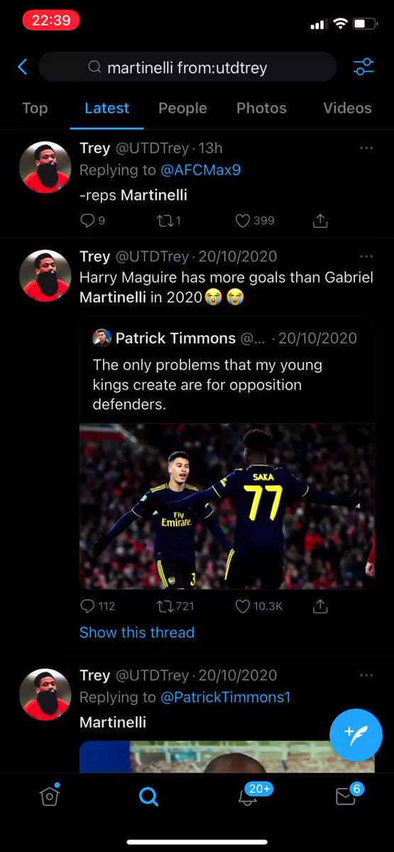 @UTDTrey Martinelli's been injured all season and you've still mentioned him this many times in the past few months alone. You've clearly not forgotten, you're afraid.