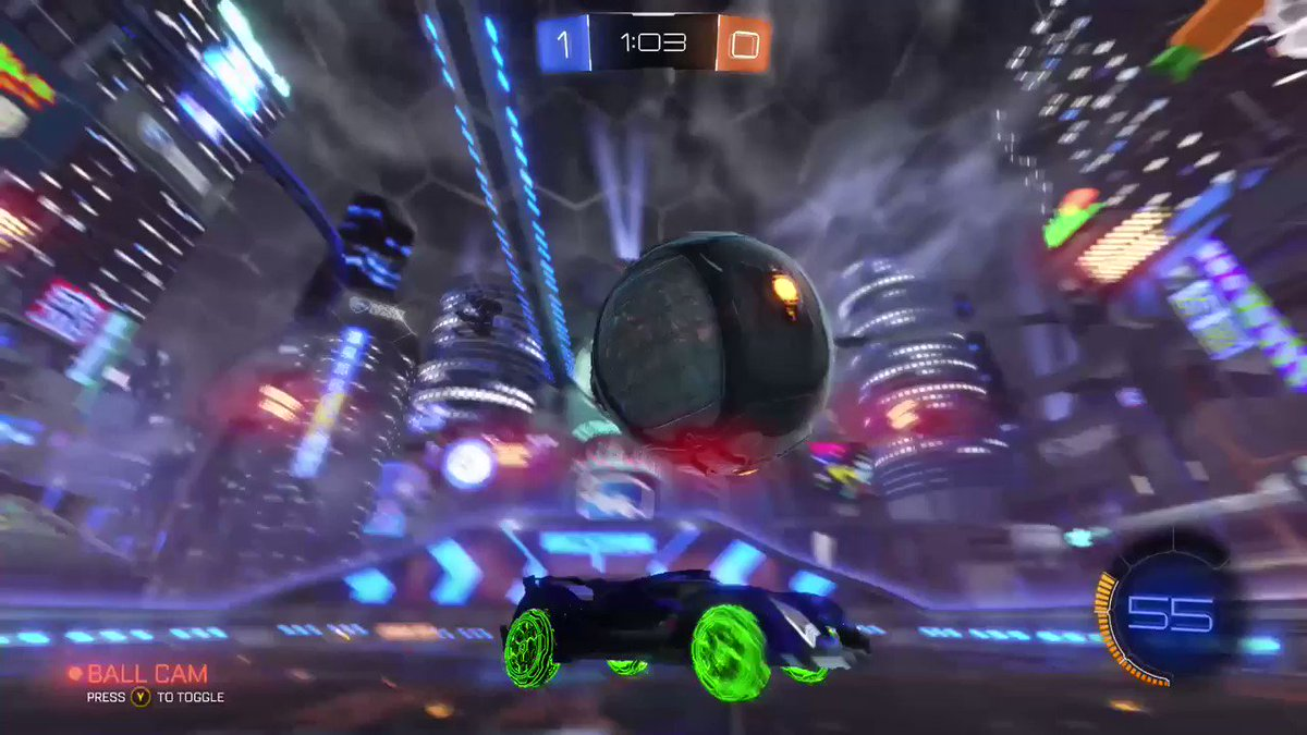 TheKing55JJ - I did a pinch shot without realising and it worked lmao  #RocketLeague