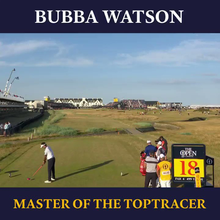 The Toptracer was made for @bubbawatson 🚀 Happy Birthday Bubba 🎈#UrWelcome