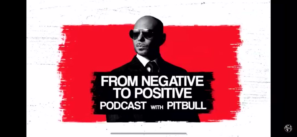 @pitbull #FromNegativetopositive Podcast Episode 4 out now! The Best Of!   🎧 @applepodcasts @podcastone @spotify @amazonmusic ..Go  @SLAMMiaOfficial @SLAM_Foundation
