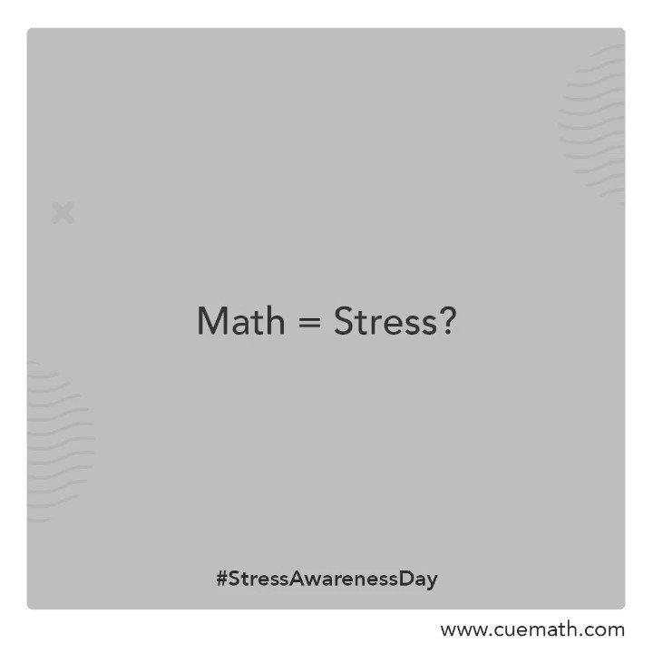 Don't stress about Math, enjoy it! Visualizing problems is fun and interesting with the Cuemath method.  Don't believe us?  Try our free demo class! . . . . #stressawarenessday #stressbuster #mathematics #mathturoring #mathtutor #elearning #mathteacher #mathforkids #cuemath https://t.co/jrIilsyqEg
