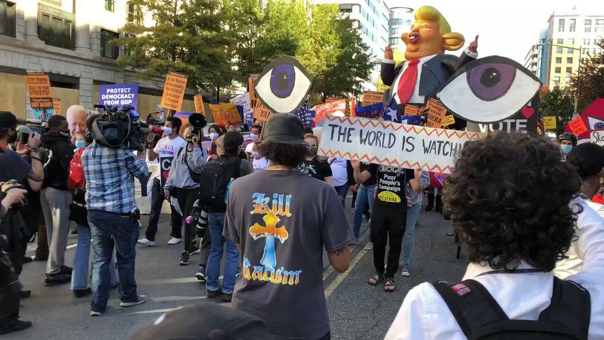 People came together to reject fascism. No Trump, No KKK, No Fascist USA. #ProtectDemocracy
