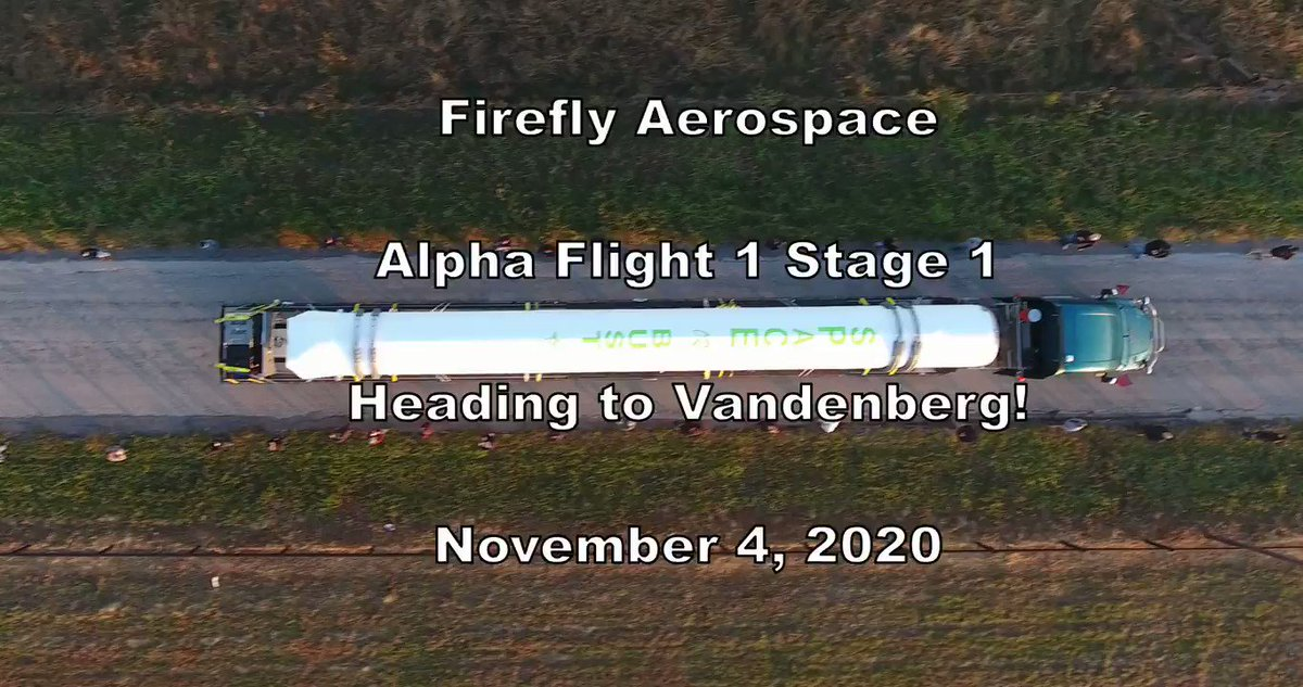 Replying to @Firefly_Space: Alpha flight stages are arriving at our launch site. Things are getting serious now!